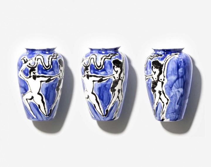 Loving Greek Couple Vase